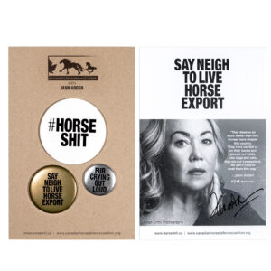 HORSESHIT Statement Buttons | Signed by Jann Arden